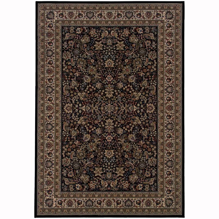 Archer Lane Spruce Black Rectangular Indoor Machine-Made Oriental Area Rug (Common: 10 x 14; Actual: 10-ft W x 12.6-ft L)