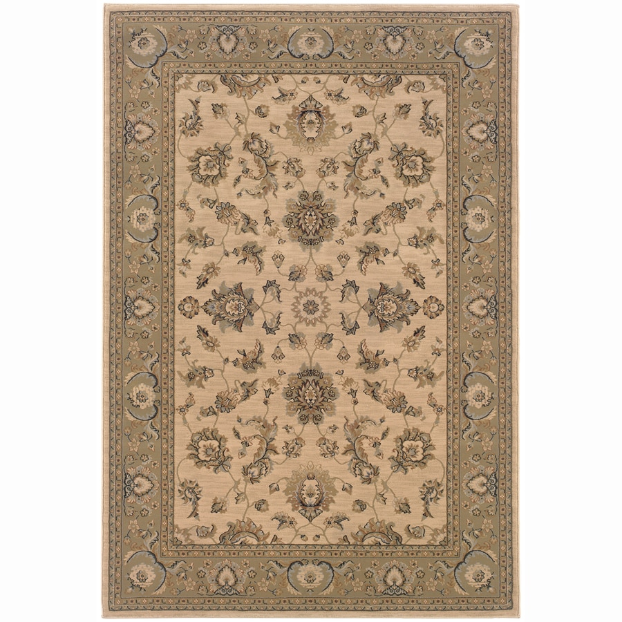Archer Lane Adams Ivory Rectangular Indoor Machine-Made Oriental Area Rug (Common: 8 x 11; Actual: 7.8-ft W x 11-ft L)