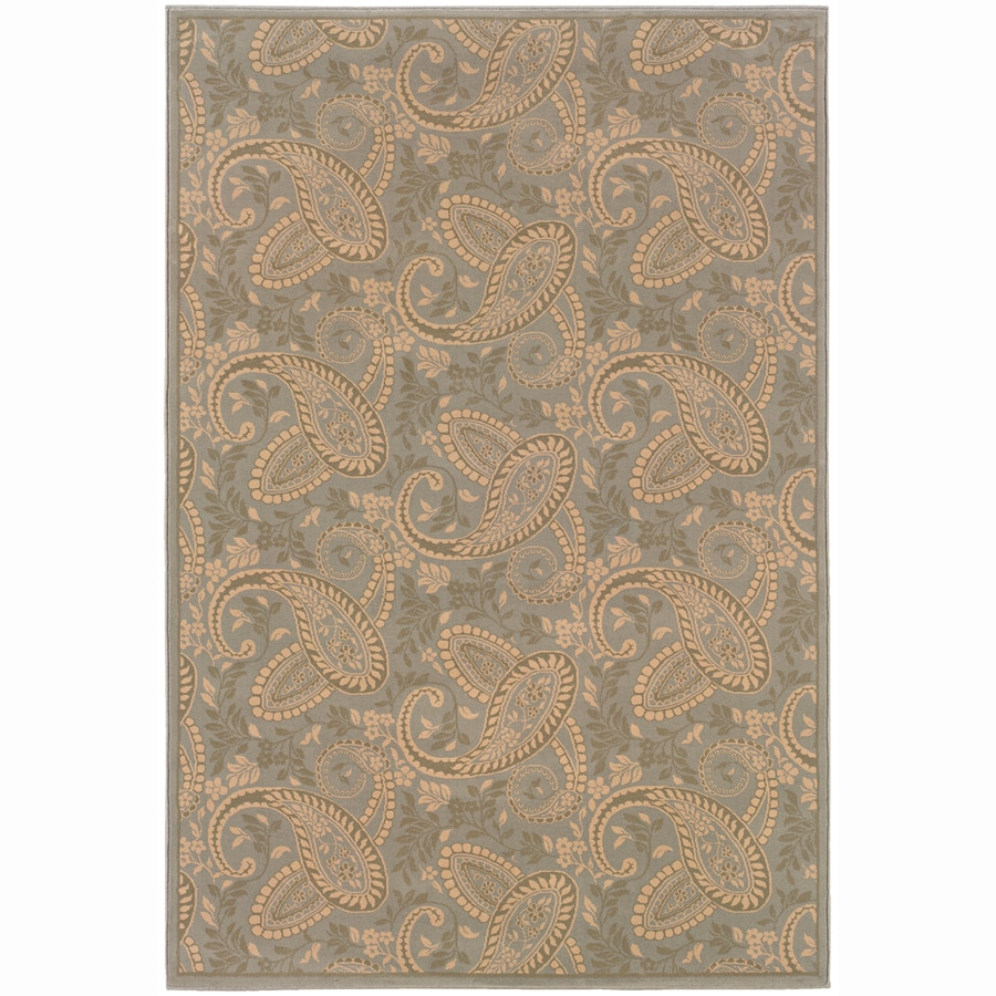Archer Lane Academy Blue Rectangular Indoor Machine-Made Oriental Area Rug (Common: 5 x 7; Actual: 5.25-ft W x 7.75-ft L)