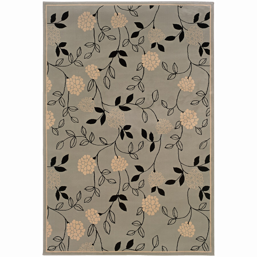 Archer Lane Lincoln Blue Rectangular Indoor Machine-Made Oriental Area Rug (Common: 4 x 6; Actual: 4-ft W x 6-ft L)