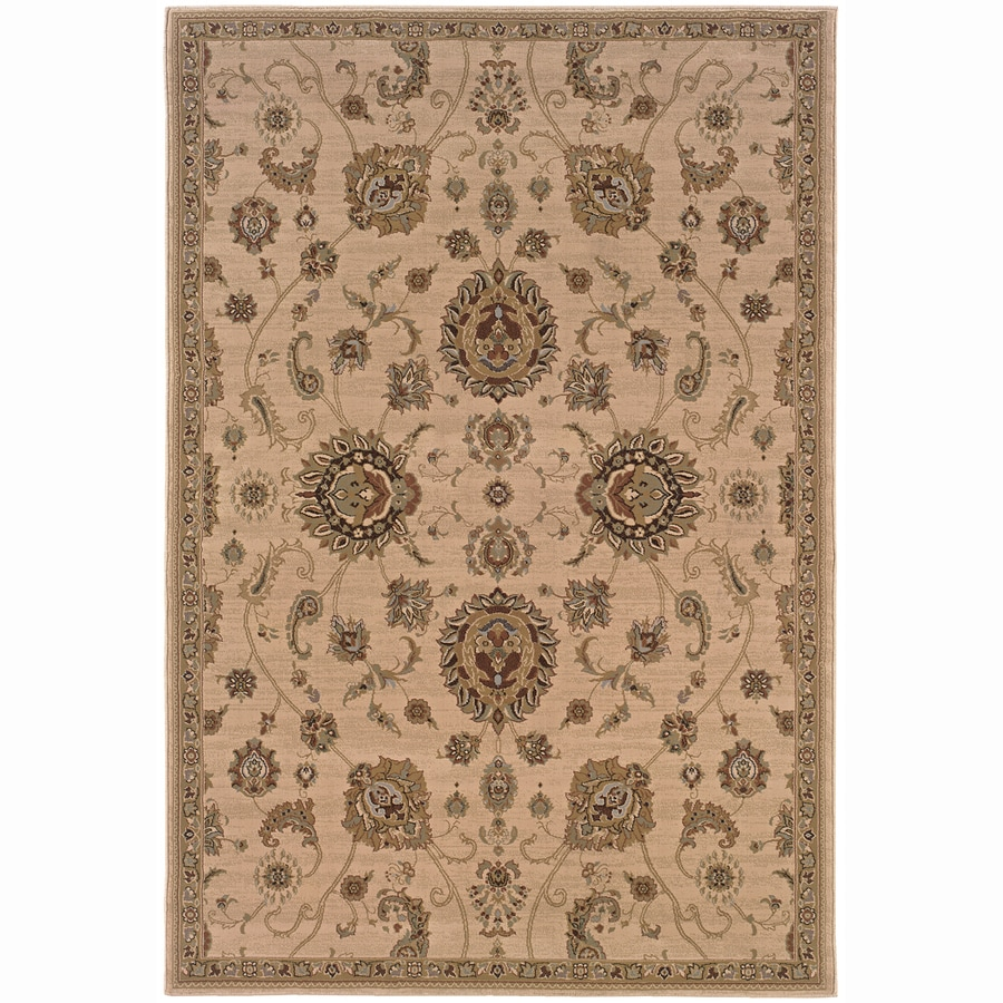 Archer Lane Summit Beige Rectangular Indoor Machine-Made Oriental Area Rug (Common: 10 x 14; Actual: 10-ft W x 12.6-ft L)