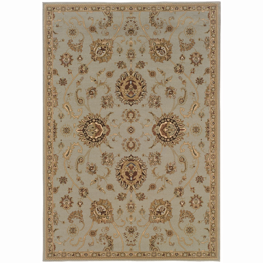 Archer Lane Summit Blue Rectangular Indoor Machine-Made Oriental Area Rug (Common: 4 x 6; Actual: 4-ft W x 6-ft L)