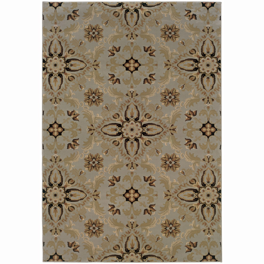 Archer Lane Virginia Blue Rectangular Indoor Machine-Made Oriental Area Rug (Common: 6 x 9; Actual: 7.8-ft W x 9.5-ft L)