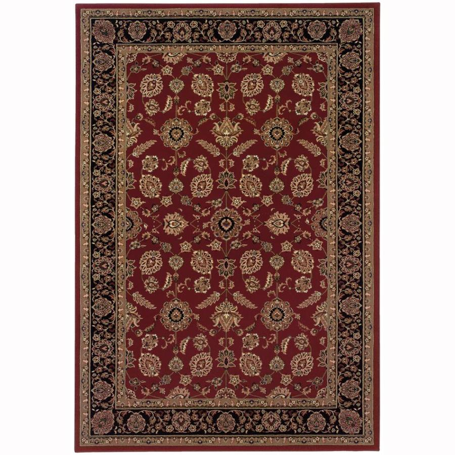 Archer Lane Charles Red Rectangular Indoor Machine-Made Oriental Area Rug (Common: 4 x 6; Actual: 4-ft W x 6-ft L)