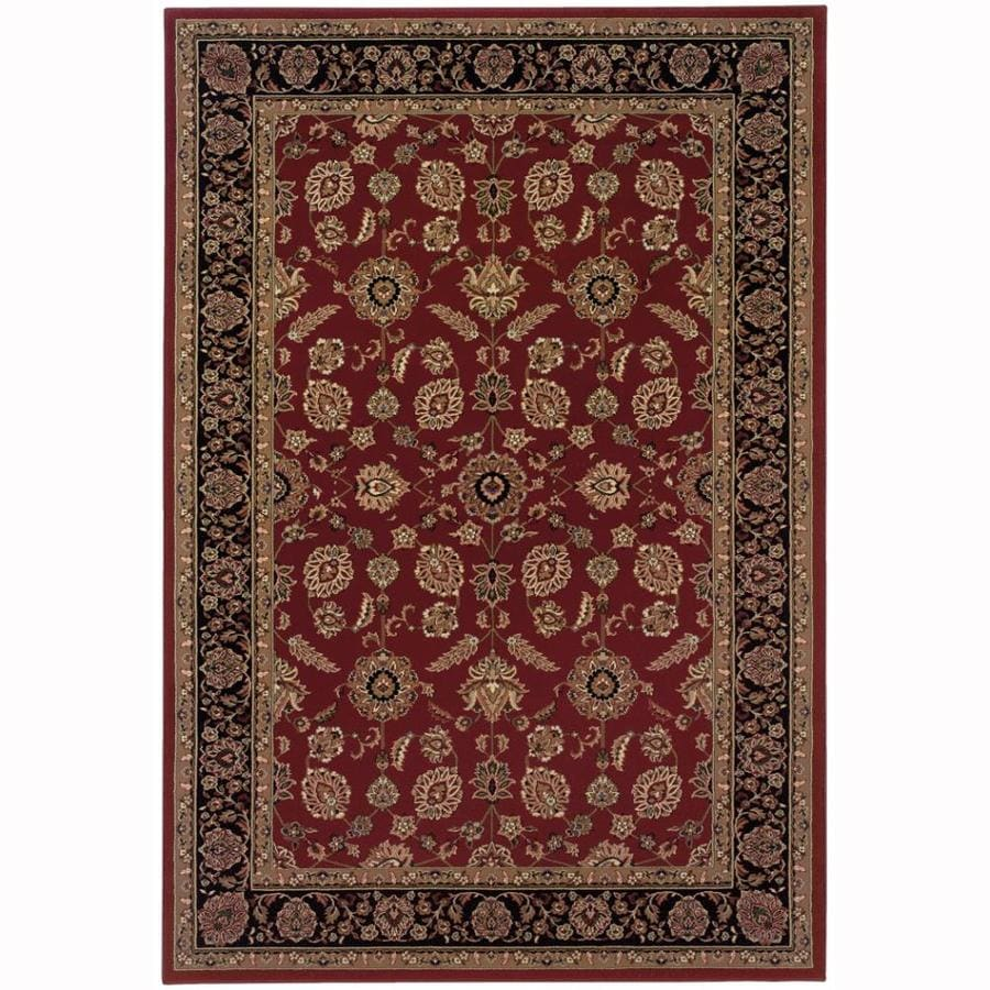 Archer Lane Charles Red Rectangular Indoor Machine-Made Oriental Area Rug (Common: 5 x 7; Actual: 5.25-ft W x 7.75-ft L)