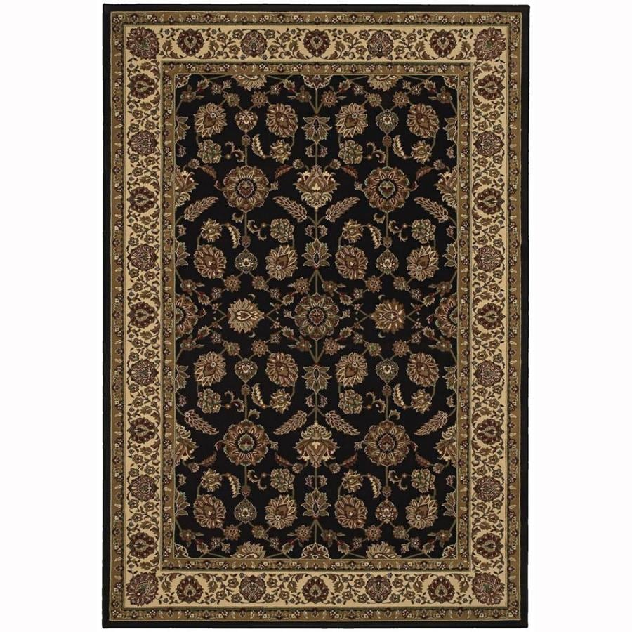 Archer Lane Charles Brown Rectangular Indoor Machine-Made Oriental Area Rug (Common: 5 x 7; Actual: 5.25-ft W x 7.75-ft L)
