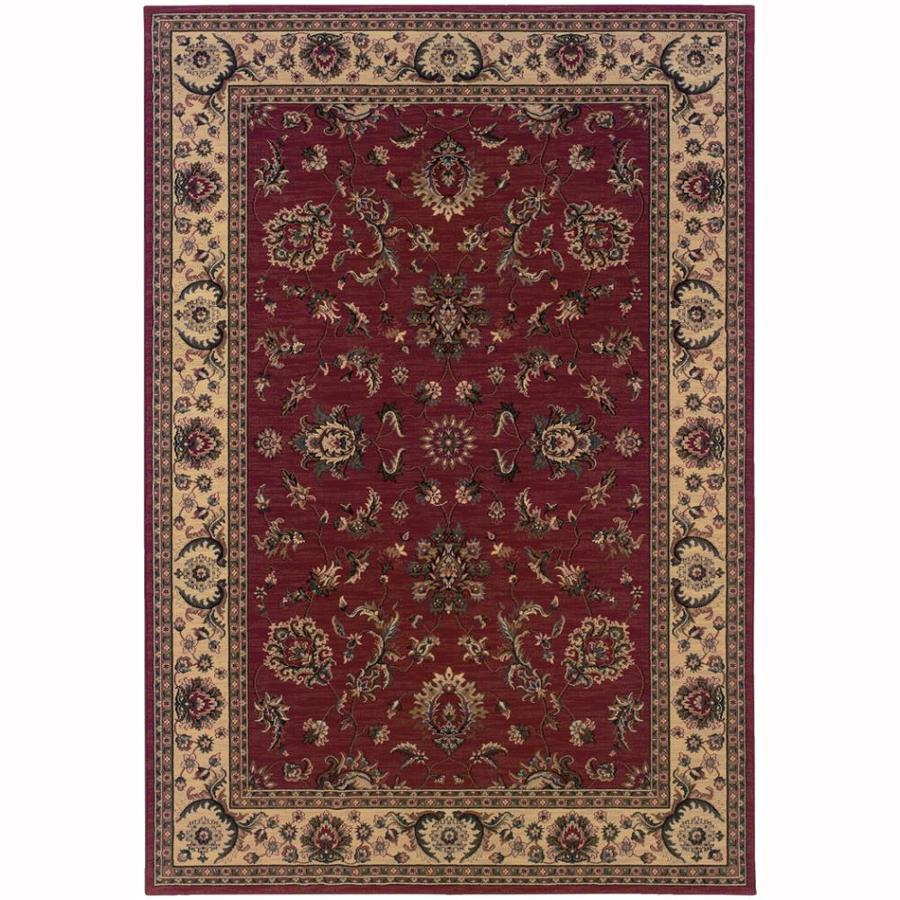 Archer Lane Woodland Red Rectangular Indoor Machine-Made Oriental Area Rug (Common: 8 x 11; Actual: 7.8-ft W x 11-ft L)
