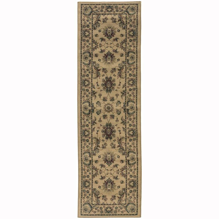 Archer Lane Woodland Ivory Rectangular Indoor Machine-Made Oriental Runner (Common: 2 x 8; Actual: 2.25-ft W x 7.75-ft L)