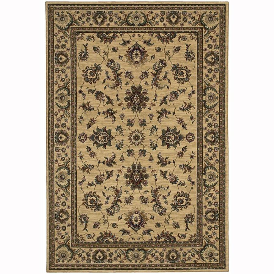 Archer Lane Woodland Ivory Rectangular Indoor Machine-Made Oriental Area Rug (Common: 5 x 7; Actual: 5.25-ft W x 7.75-ft L)
