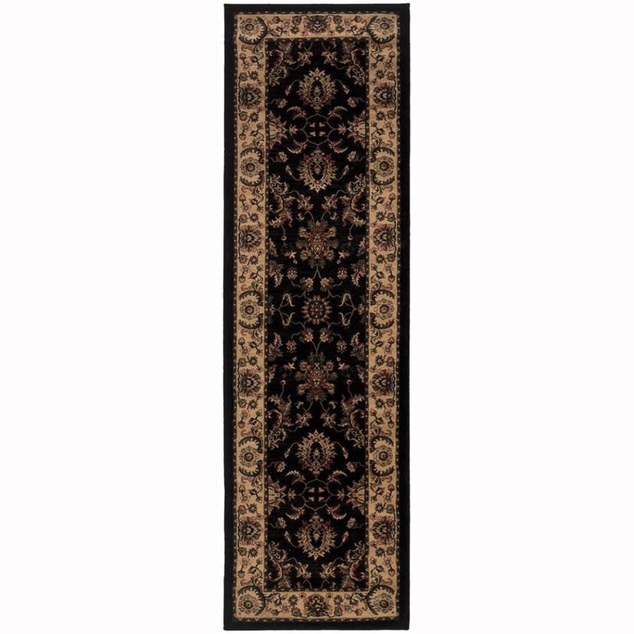 Archer Lane Woodland Black Rectangular Indoor Machine-Made Oriental Runner (Common: 2 x 8; Actual: 2.25-ft W x 7.75-ft L)