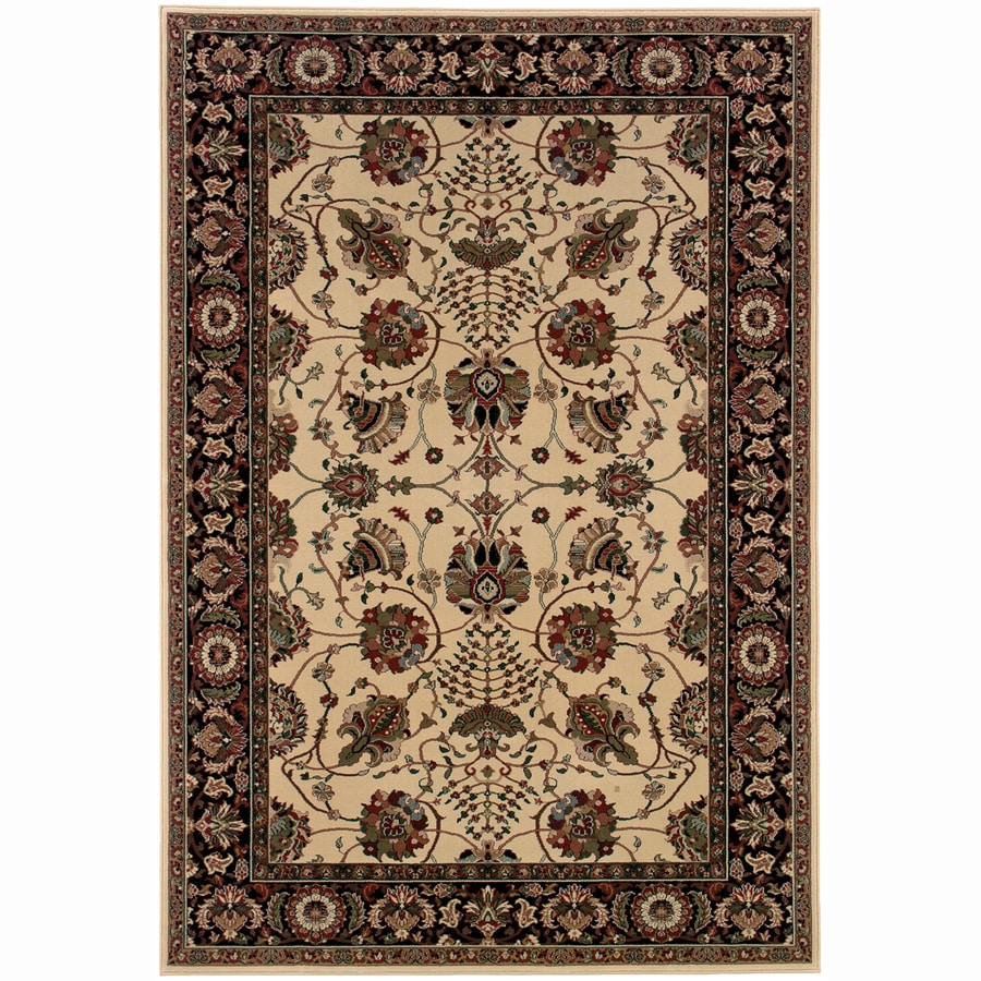 Archer Lane Fairway Ivory Rectangular Indoor Machine-Made Oriental Runner (Common: 2 x 8; Actual: 2.25-ft W x 7.75-ft L)