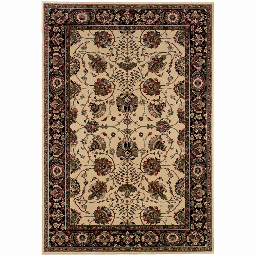 Archer Lane Fairway Ivory Rectangular Indoor Machine-Made Oriental Area Rug (Common: 6 x 9; Actual: 7.8-ft W x 9.5-ft L)