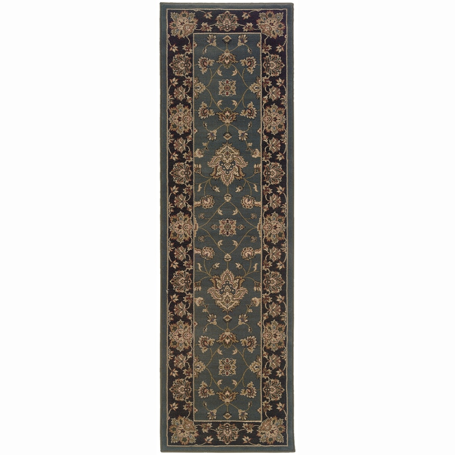 Archer Lane Liberty Blue Rectangular Indoor Machine-Made Oriental Runner (Common: 2 x 8; Actual: 2.25-ft W x 7.75-ft L)