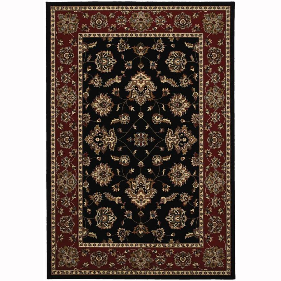 Archer Lane Liberty Black Rectangular Indoor Machine-Made Oriental Area Rug (Common: 4 x 6; Actual: 4-ft W x 6-ft L)