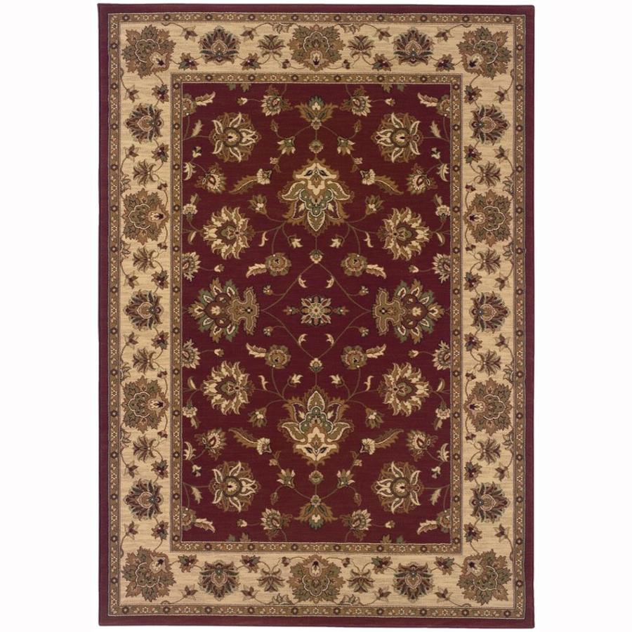 Archer Lane Liberty Red Rectangular Indoor Machine-Made Oriental Area Rug (Common: 4 x 6; Actual: 4-ft W x 6-ft L)