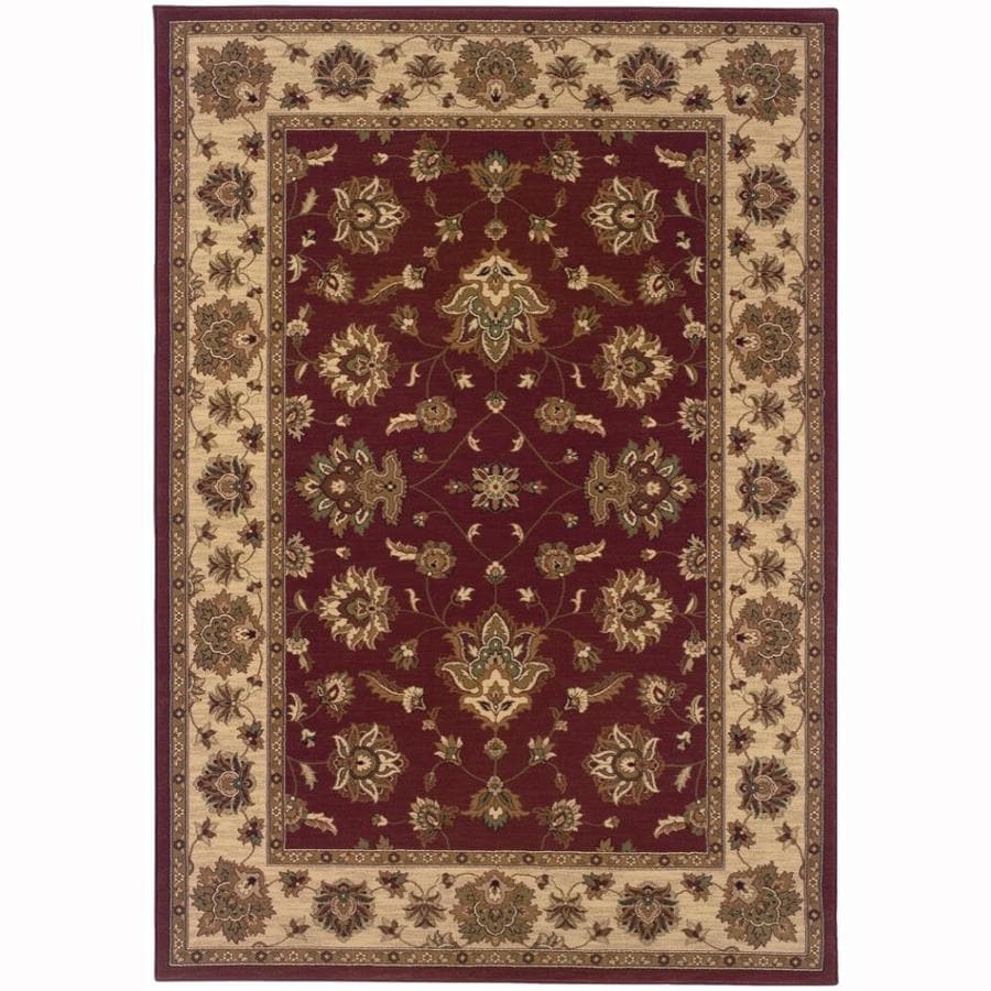 Archer Lane Liberty Red Rectangular Indoor Machine-Made Oriental Area Rug (Common: 5 x 7; Actual: 5.25-ft W x 7.75-ft L)