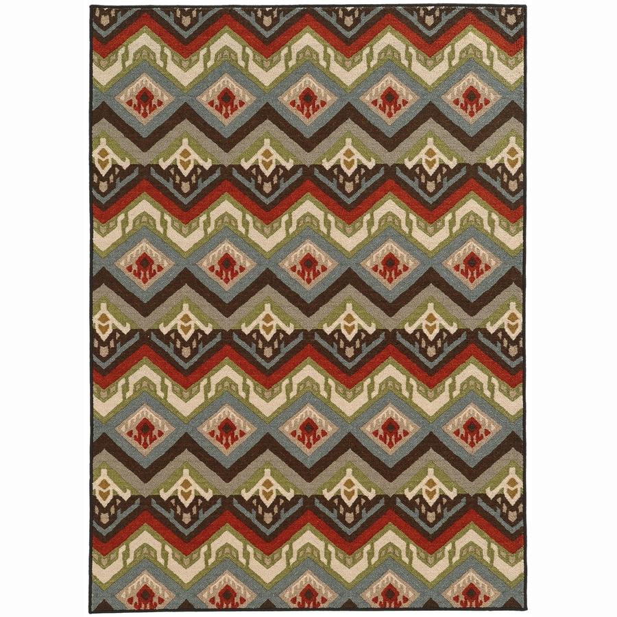 Archer Lane Broadway Multicolor Rectangular Indoor Machine-Made Nature Area Rug (Common: 8 x 10; Actual: 7.8-ft W x 10-ft L)
