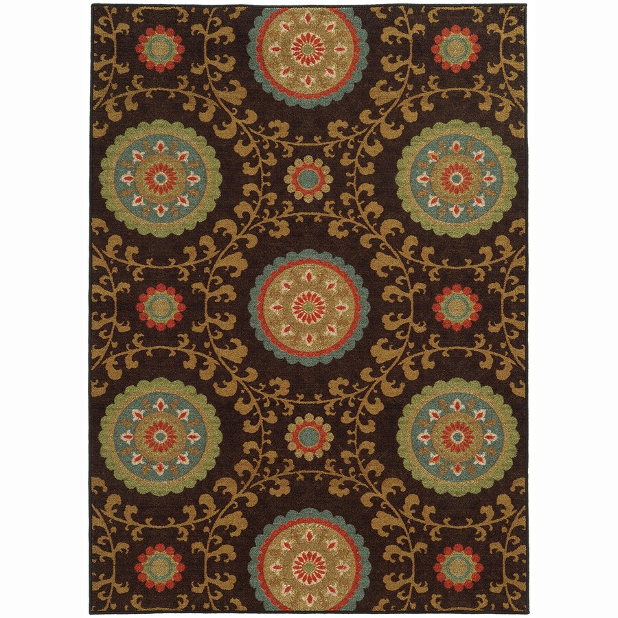 Archer Lane Brookside Brown Rectangular Indoor Machine-Made Nature Area Rug (Common: 5 x 7; Actual: 5.25-ft W x 7.25-ft L)