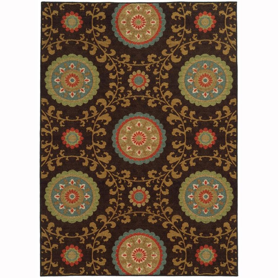 Archer Lane Brookside Brown Rectangular Indoor Machine-Made Nature Area Rug (Common: 8 x 10; Actual: 7.8-ft W x 10-ft L)