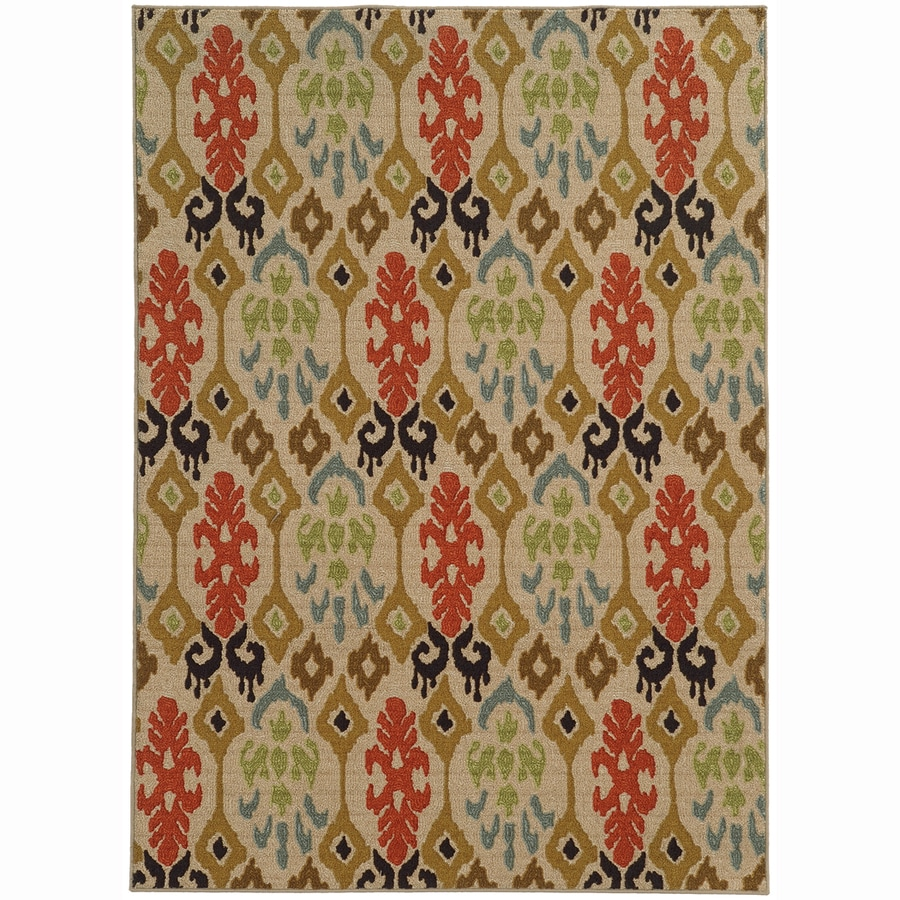 Archer Lane Monroe Beige Rectangular Indoor Machine-Made Nature Area Rug (Common: 5 x 7; Actual: 5.25-ft W x 7.25-ft L)