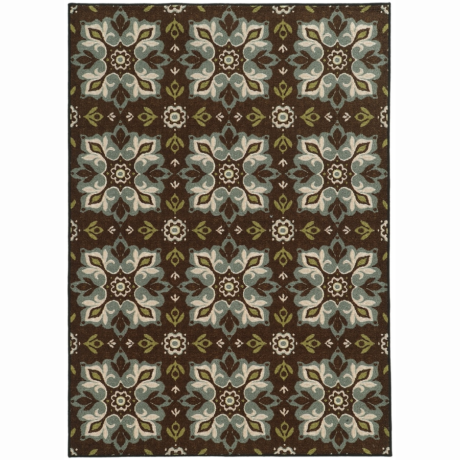 Archer Lane Prospect Brown Rectangular Indoor Machine-Made Nature Area Rug (Common: 6 x 9; Actual: 6.6-ft W x 9.25-ft L)
