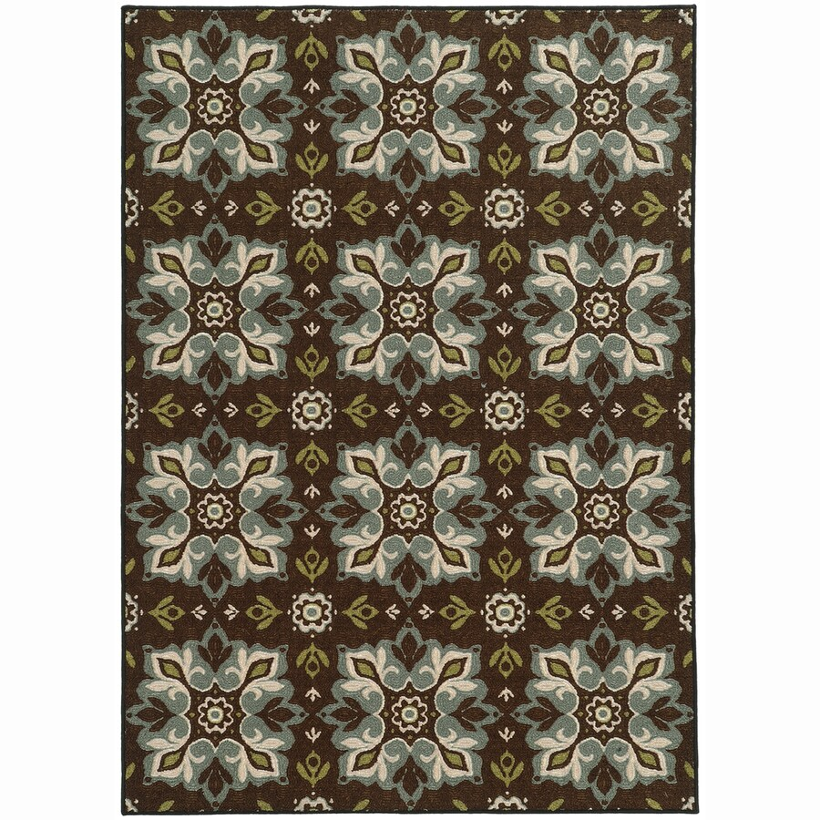 Archer Lane Prospect Brown Rectangular Indoor Machine-Made Nature Area Rug (Common: 8 x 10; Actual: 7.8-ft W x 10-ft L)