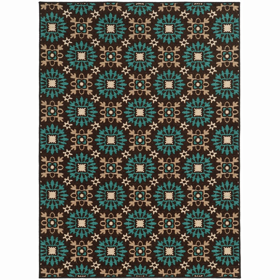Archer Lane Valley Brown Rectangular Indoor Machine-Made Nature Area Rug (Common: 5 x 7; Actual: 5.25-ft W x 7.25-ft L)