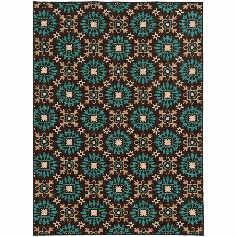 Archer Lane Valley Brown Rectangular Indoor Machine-Made Nature Area Rug (Common: 6 x 9; Actual: 6.6-ft W x 9.25-ft L)