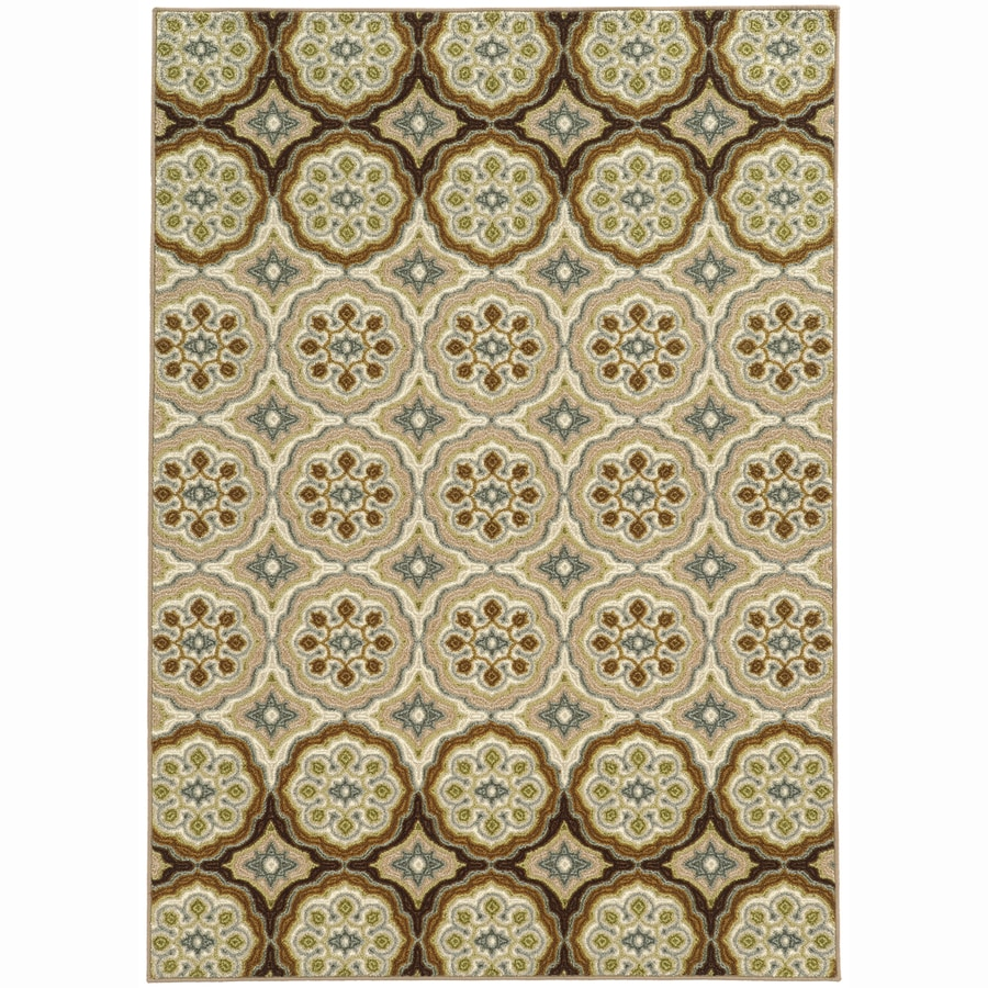Archer Lane Penn Ivory Rectangular Indoor Machine-Made Nature Area Rug (Common: 5 x 7; Actual: 5.25-ft W x 7.25-ft L)