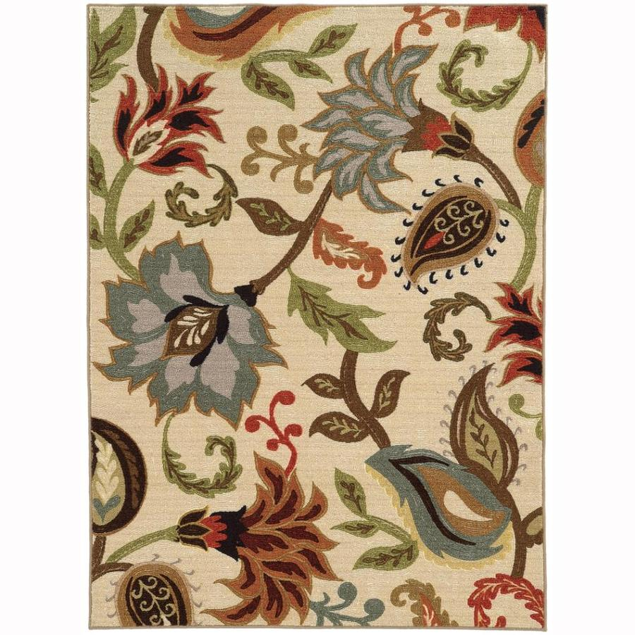 Archer Lane Durham Ivory Rectangular Indoor Machine-Made Nature Area Rug (Common: 6 x 9; Actual: 6.6-ft W x 9.25-ft L)