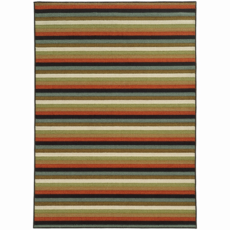 Archer Lane Grant Multicolor Rectangular Indoor Machine-Made Nature Area Rug (Common: 5 x 7; Actual: 5.25-ft W x 7.25-ft L)