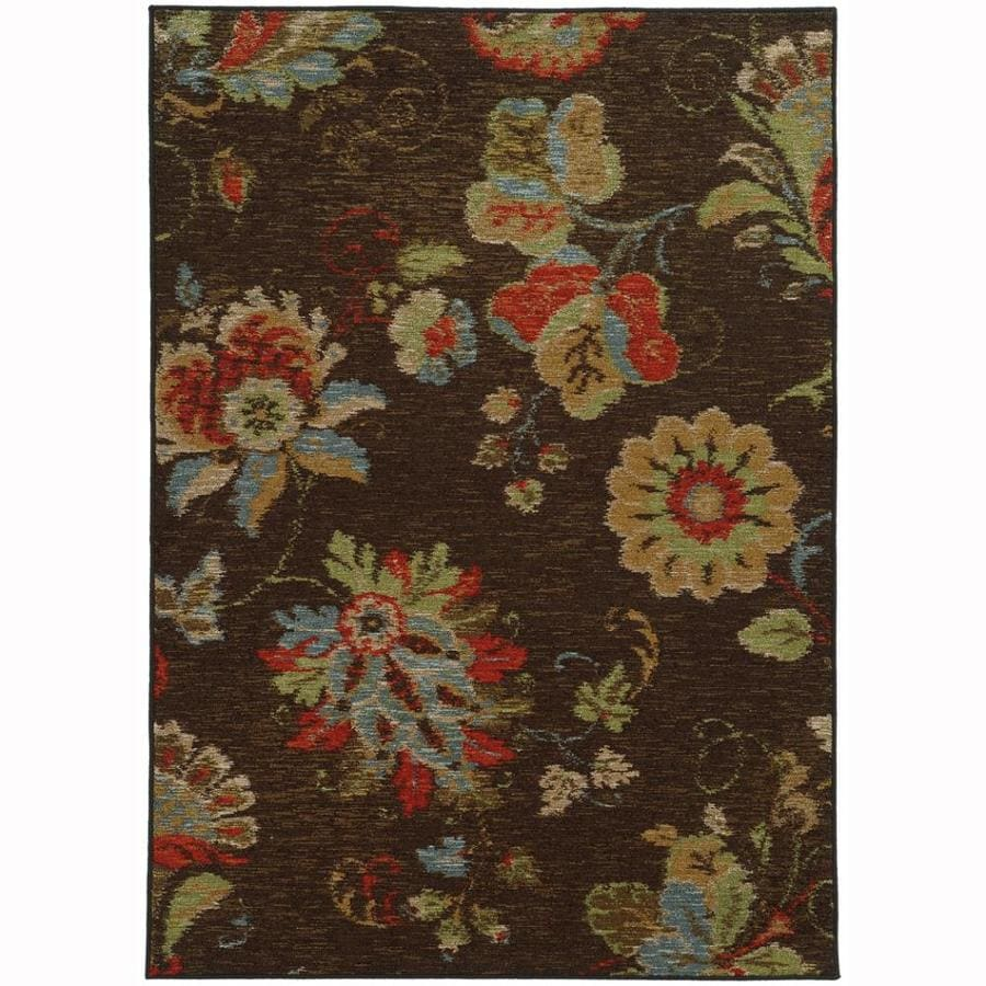 Archer Lane Mulberry Brown Rectangular Indoor Machine-Made Nature Area Rug (Common: 5 x 7; Actual: 5.25-ft W x 7.25-ft L)