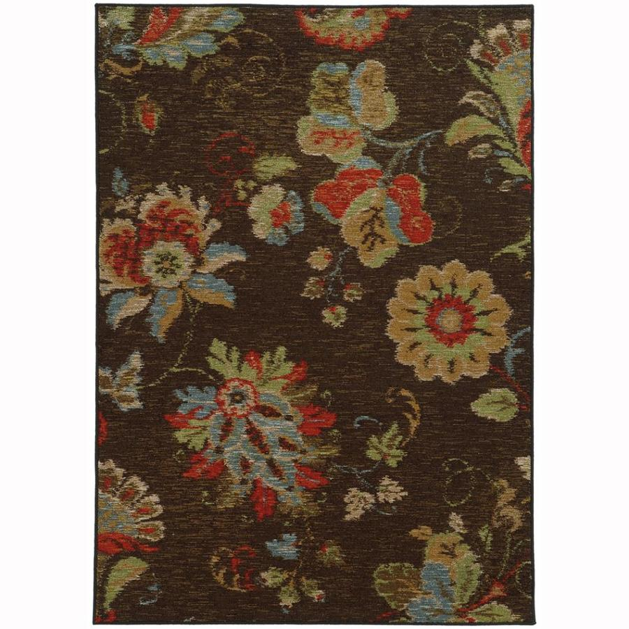 Archer Lane Mulberry Brown Rectangular Indoor Machine-Made Nature Area Rug (Common: 8 x 10; Actual: 7.8-ft W x 10-ft L)