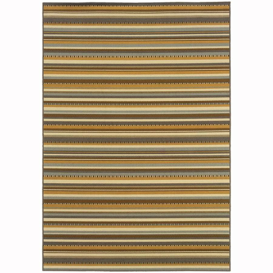 Archer Lane Park Gray Rectangular Indoor Machine-Made Coastal Area Rug (Common: 4 x 6; Actual: 3.8-ft W x 4.7-ft L)