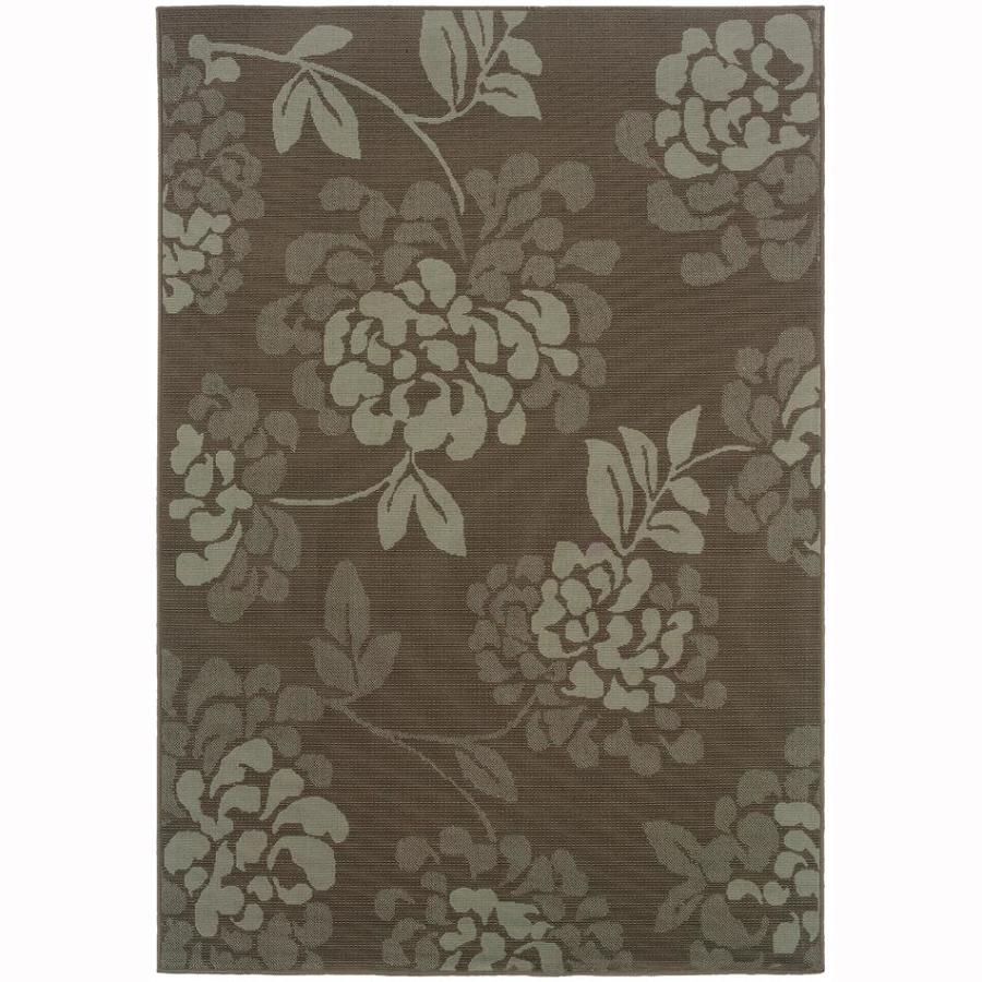 Archer Lane Warren Gray Rectangular Indoor Machine-Made Coastal Area Rug (Common: 5 x 7; Actual: 5.25-ft W x 7.5-ft L)