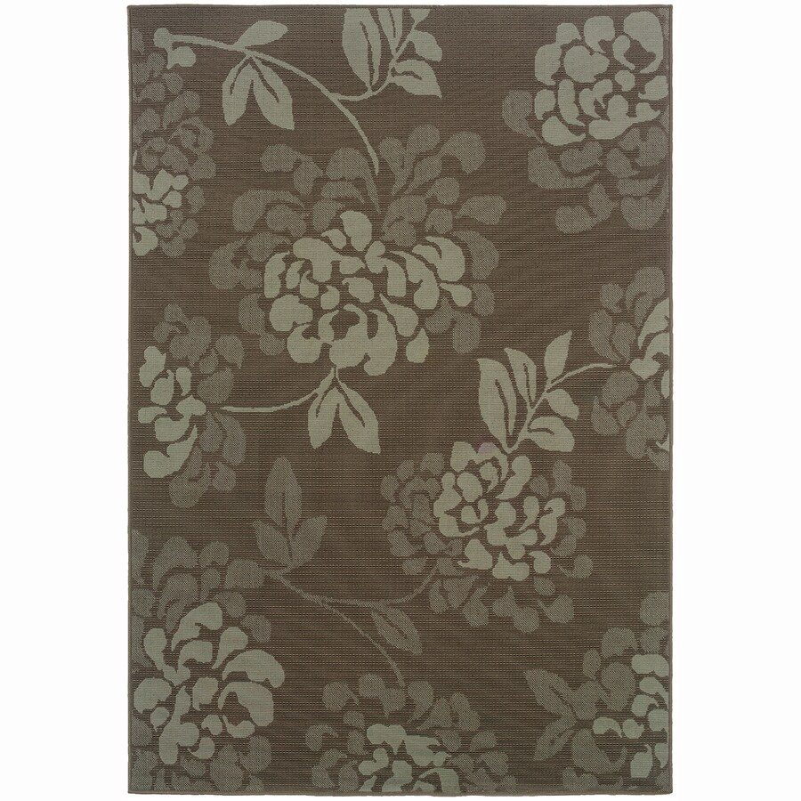 Archer Lane Warren Gray Rectangular Indoor Machine-Made Coastal Area Rug (Common: 8 x 11; Actual: 7.8-ft W x 10.8-ft L)