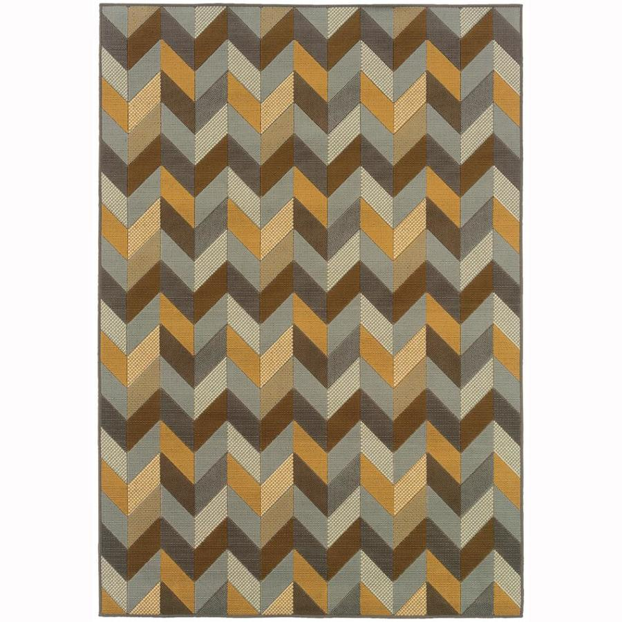 Archer Lane Williams Gray Rectangular Indoor Machine-Made Coastal Area Rug (Common: 6 x 9; Actual: 6.6-ft W x 9.5-ft L)