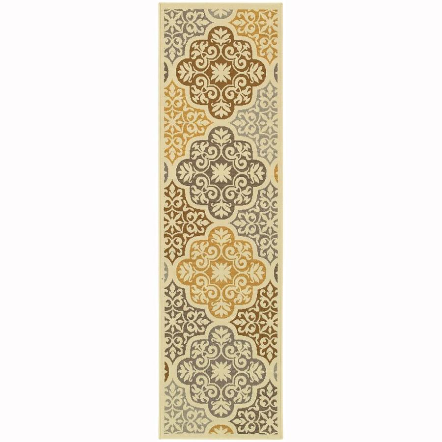 Archer Lane Berkshire Ivory Rectangular Indoor Machine-Made Coastal Runner (Common: 2 x 8; Actual: 2.25-ft W x 7.5-ft L)