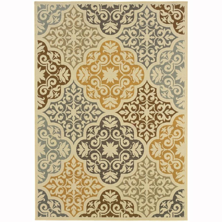 Archer Lane Berkshire Ivory Rectangular Indoor Machine-Made Coastal Area Rug (Common: 6 x 9; Actual: 6.6-ft W x 9.5-ft L)