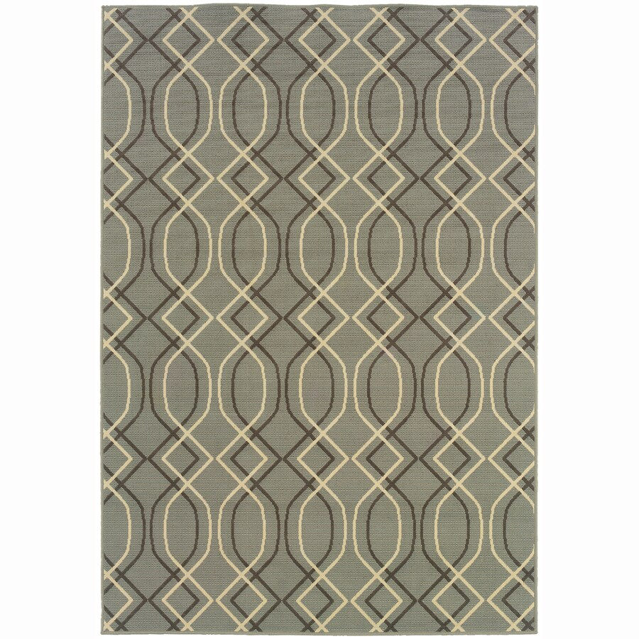 Archer Lane Cambridge Blue Rectangular Indoor Machine-Made Coastal Area Rug (Common: 5 x 7; Actual: 5.25-ft W x 7.5-ft L)
