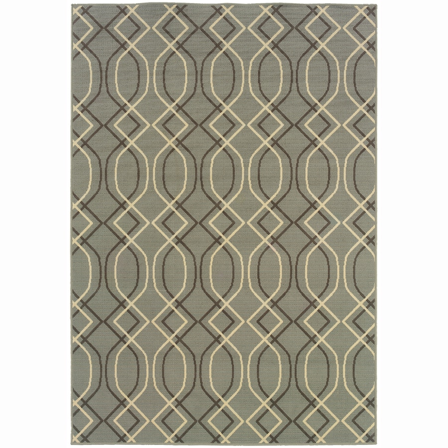 Archer Lane Cambridge Blue Rectangular Indoor Machine-Made Coastal Area Rug (Common: 9 x 12; Actual: 8.5-ft W x 13-ft L)