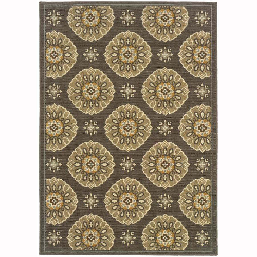 Archer Lane Elm Gray Rectangular Indoor Machine-Made Coastal Area Rug (Common: 9 x 12; Actual: 8.5-ft W x 13-ft L)