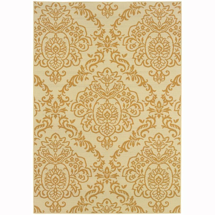 Archer Lane Essex Ivory Rectangular Indoor Machine-Made Coastal Area Rug (Common: 6 x 9; Actual: 6.6-ft W x 9.5-ft L)
