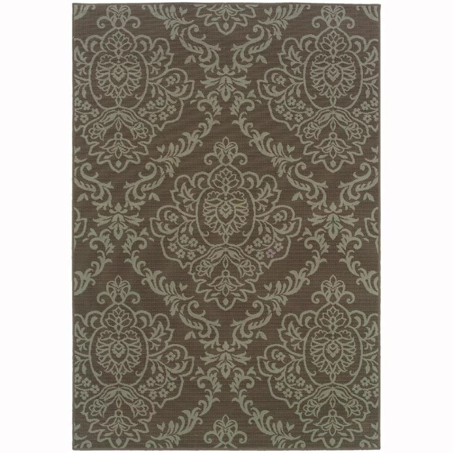 Archer Lane Essex Gray Rectangular Indoor Machine-Made Coastal Area Rug (Common: 4 x 6; Actual: 3.8-ft W x 4.7-ft L)