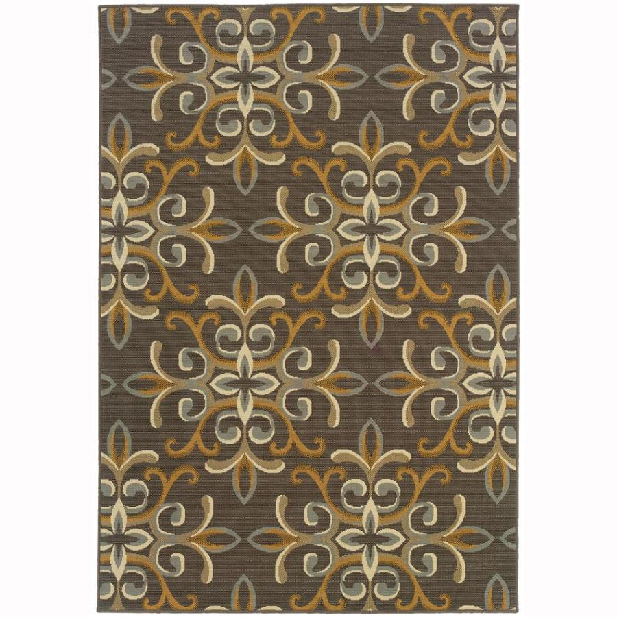 Archer Lane Fulton Gray Rectangular Indoor Machine-Made Coastal Area Rug (Common: 6 x 9; Actual: 6.6-ft W x 9.5-ft L)
