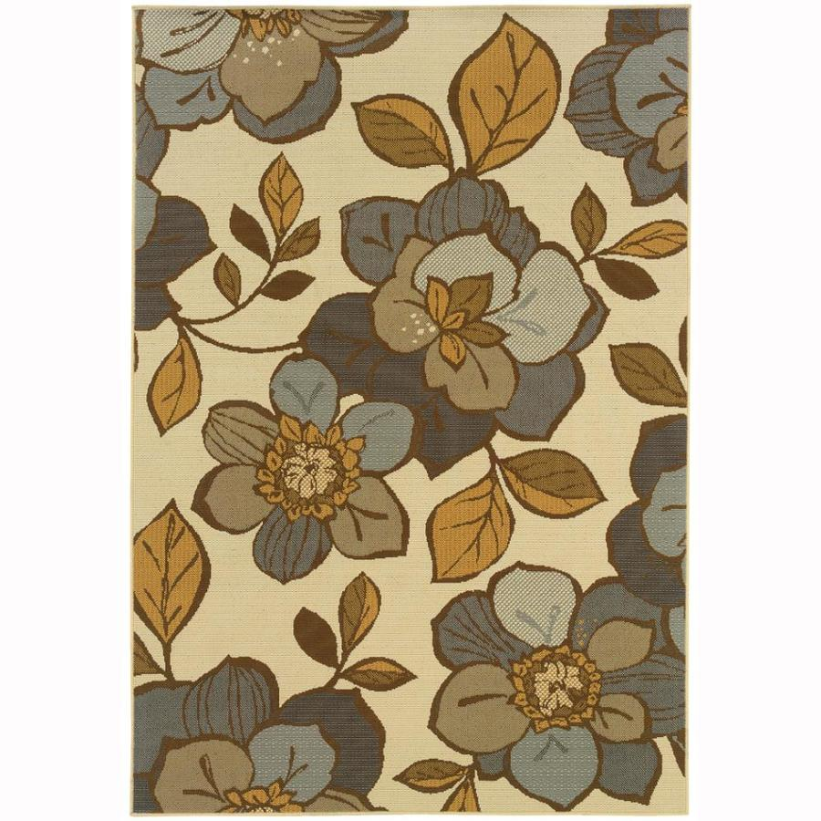 Archer Lane George Ivory Rectangular Indoor Machine-Made Coastal Area Rug (Common: 9 x 12; Actual: 8.5-ft W x 13-ft L)