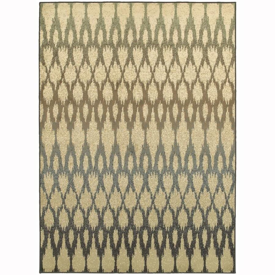 Archer Lane Heather Ivory Rectangular Indoor Machine-Made Nature Area Rug (Common: 6 x 9; Actual: 6.6-ft W x 9.25-ft L)