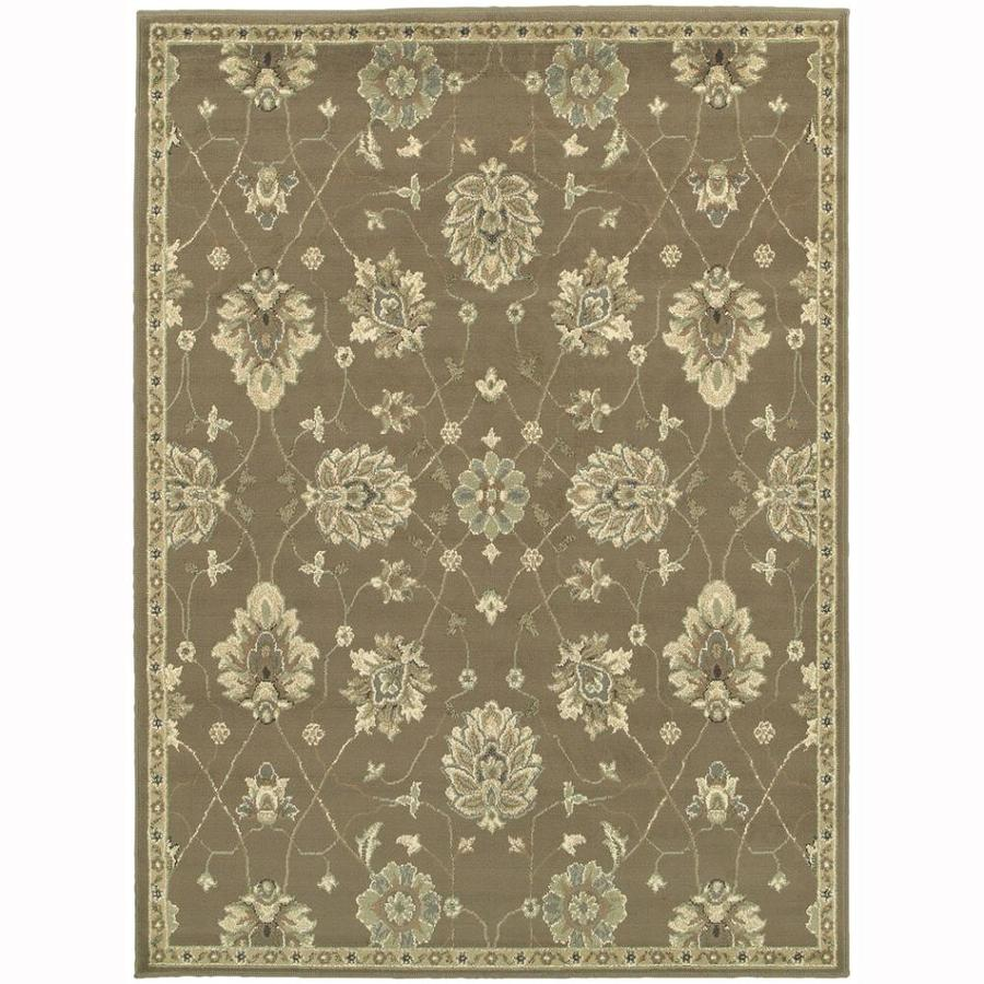 Archer Lane Arch Brown Rectangular Indoor Machine-Made Nature Area Rug (Common: 6 x 9; Actual: 6.6-ft W x 9.25-ft L)