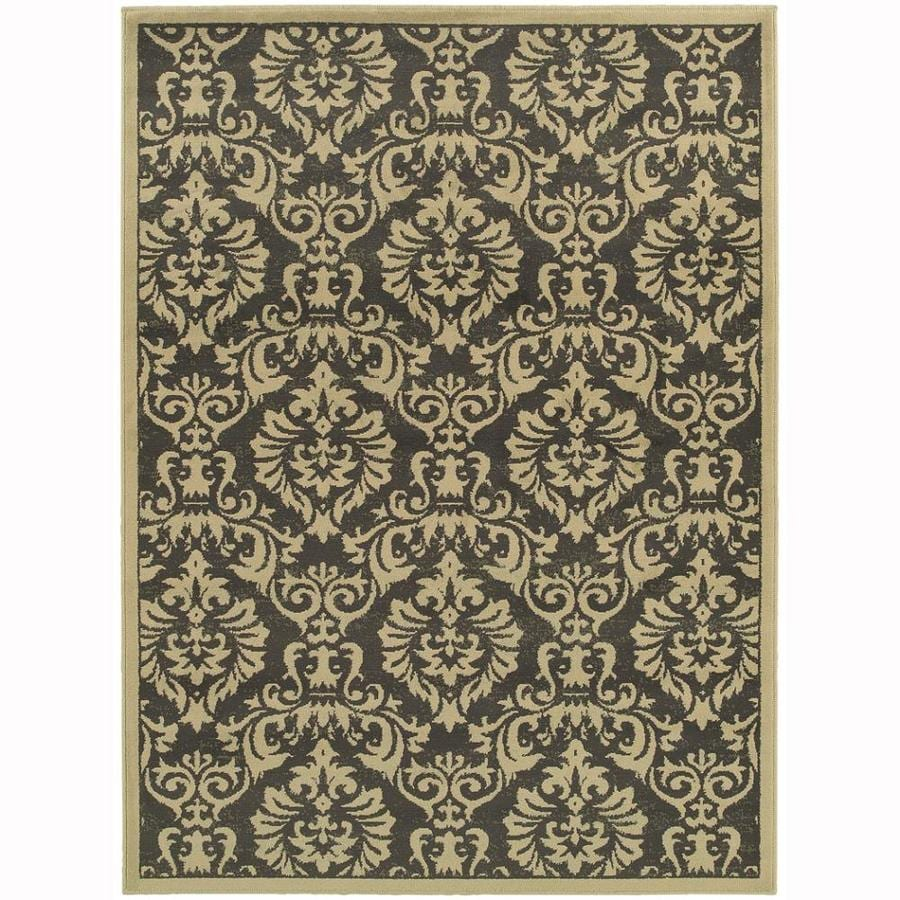 Archer Lane Lafayette Charcoal Rectangular Indoor Machine-Made Nature Area Rug (Common: 8 x 10; Actual: 7.8-ft W x 10-ft L)