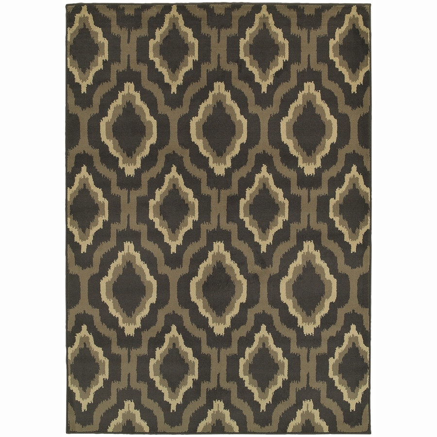 Archer Lane Smith Charcoal Rectangular Indoor Machine-Made Nature Area Rug (Common: 5 x 7; Actual: 5.25-ft W x 7.25-ft L)